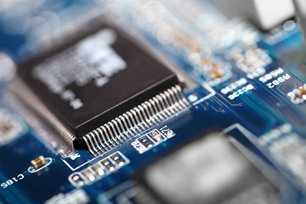 circuit board - capacitor stock photos and pictures