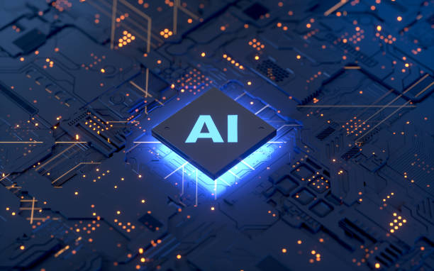 AI, circuit board AI, Artificial Intelligence concept,3d rendering,conceptual image. computer chip stock pictures, royalty-free photos & images