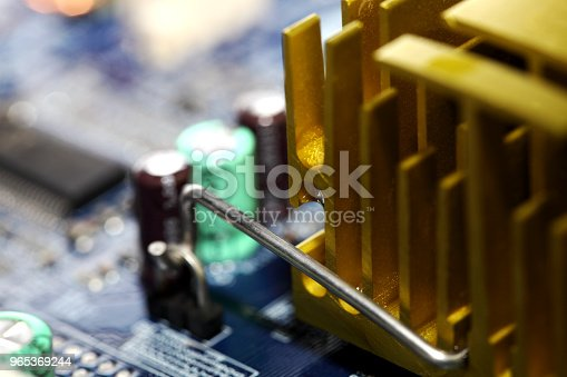 Circuit Board Stock Photo & More Pictures of Blue