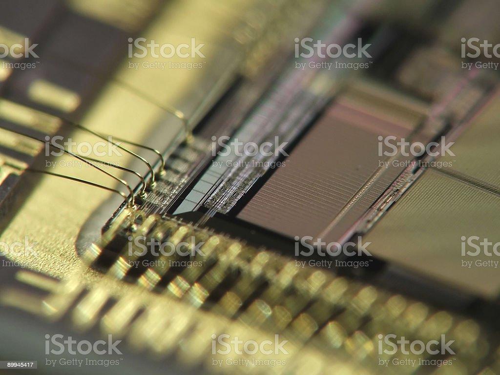 Circuit board - Processor royalty-free stock photo