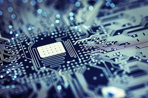 Circuit Board - Space stock photo