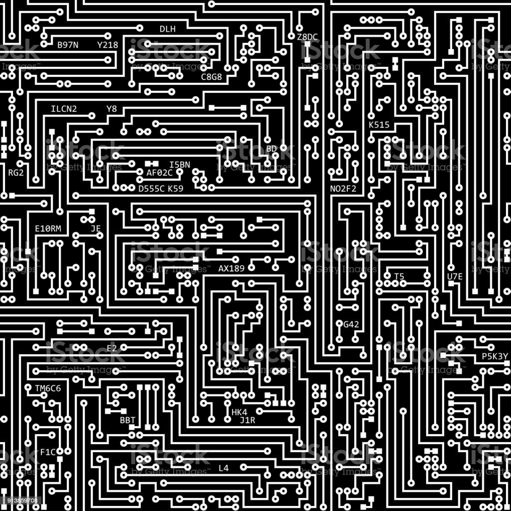 Circuit Board Texture Seamless 11 stock photo