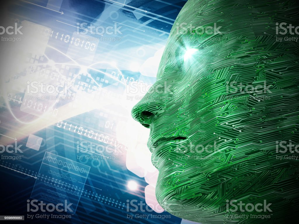 Circuit Board Textured Head On Abstract Background Stock Photo And Fiber Optics Getty Images Royalty Free