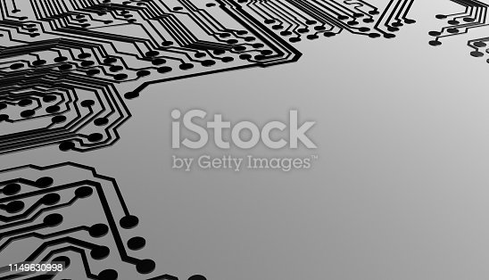istock Circuit board with copyspace 1149630998