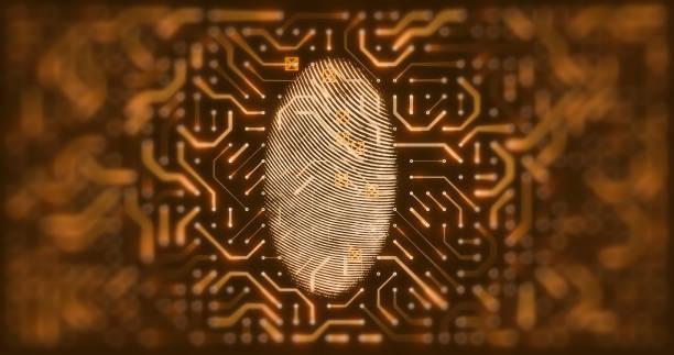 Leiterplatte mit Fingerabdruckscanner – Foto