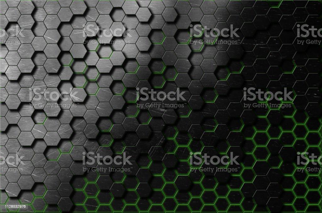 circuits et hexagones fond de nid d'abeilles - Photo