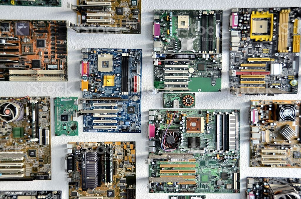 Circuit Boards stock photo