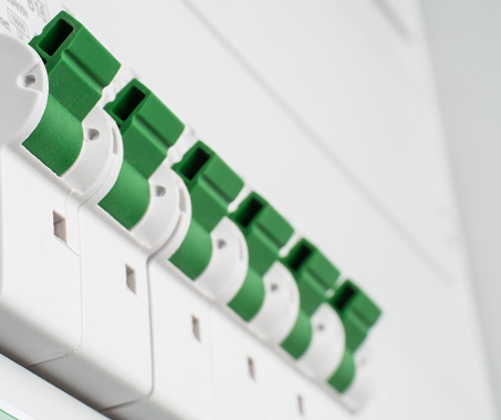 Circuit Breaker In Fuse Box Stock Photo - Download Image Now