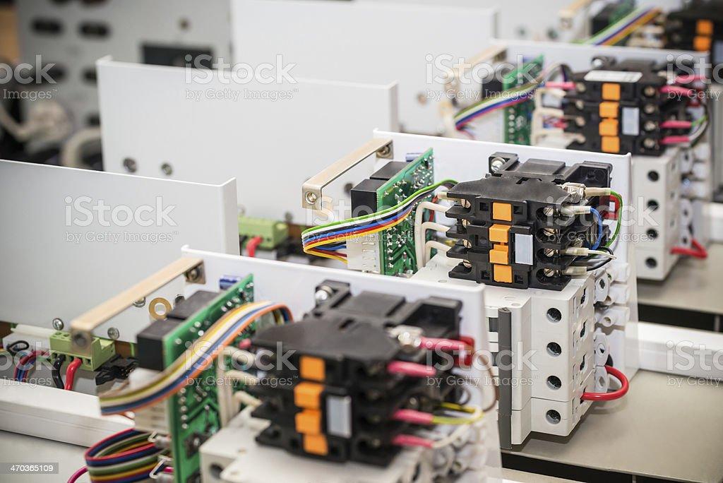 380V circuit breaker stock photo