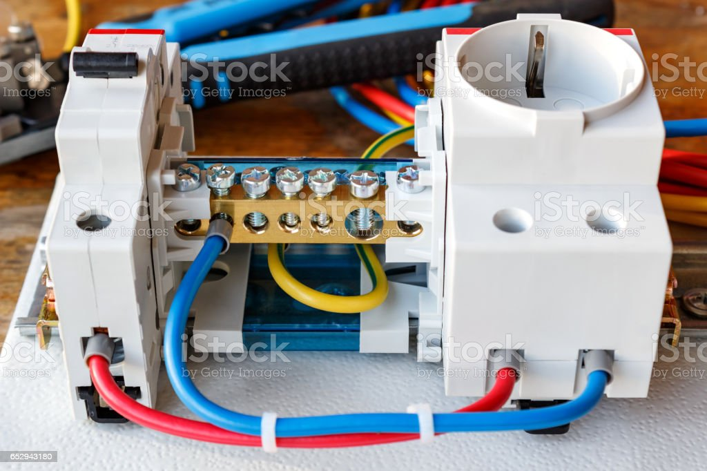 Circuit Breaker Wire Terminal Block And Electrical Socket ... on