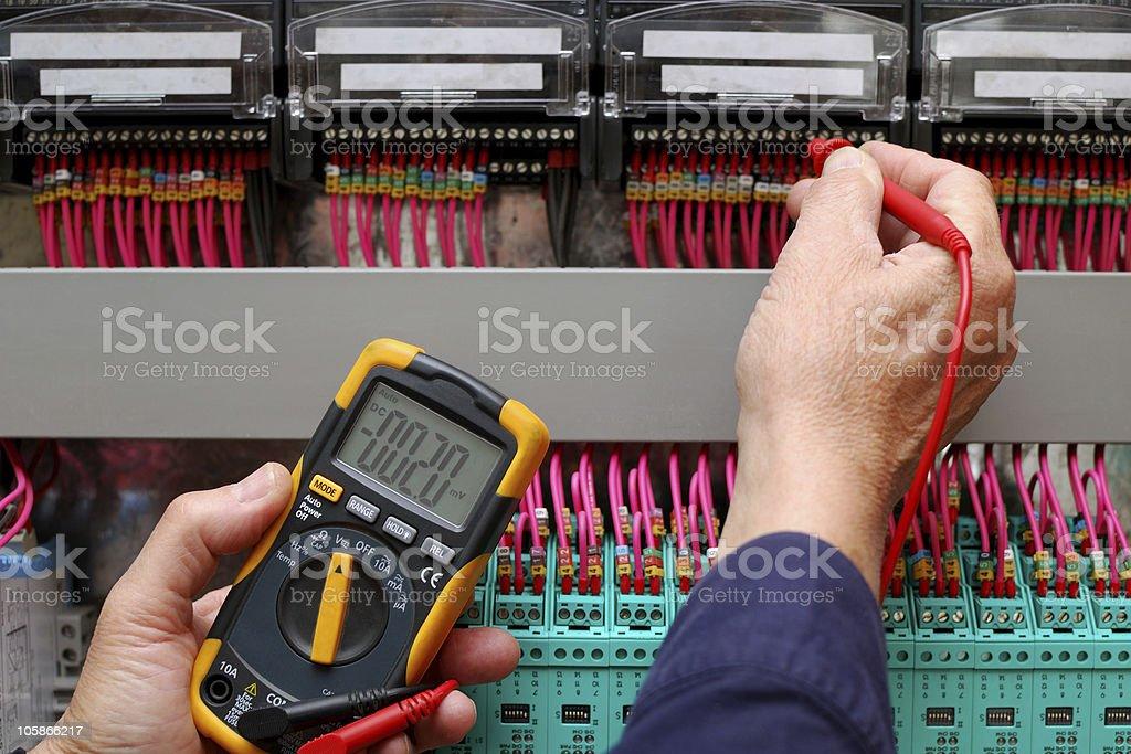 Circuit testing stock photo