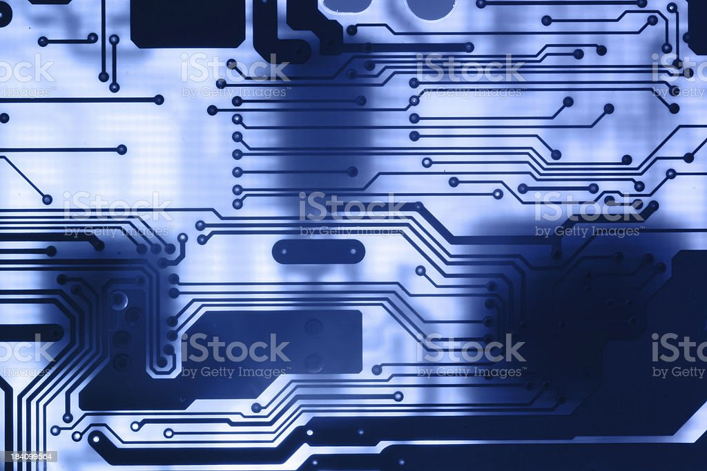 Circuits - computer motherboard stock photo