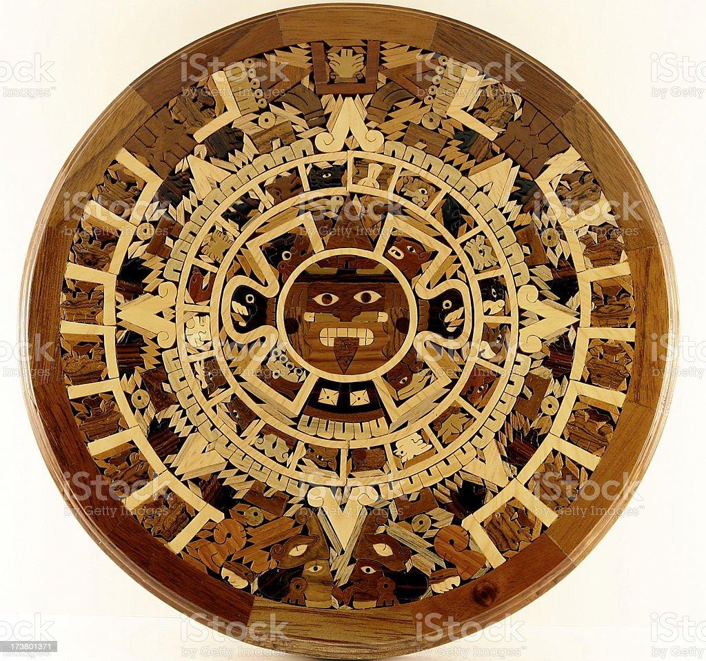 Circular Aztec Calendar stock photo