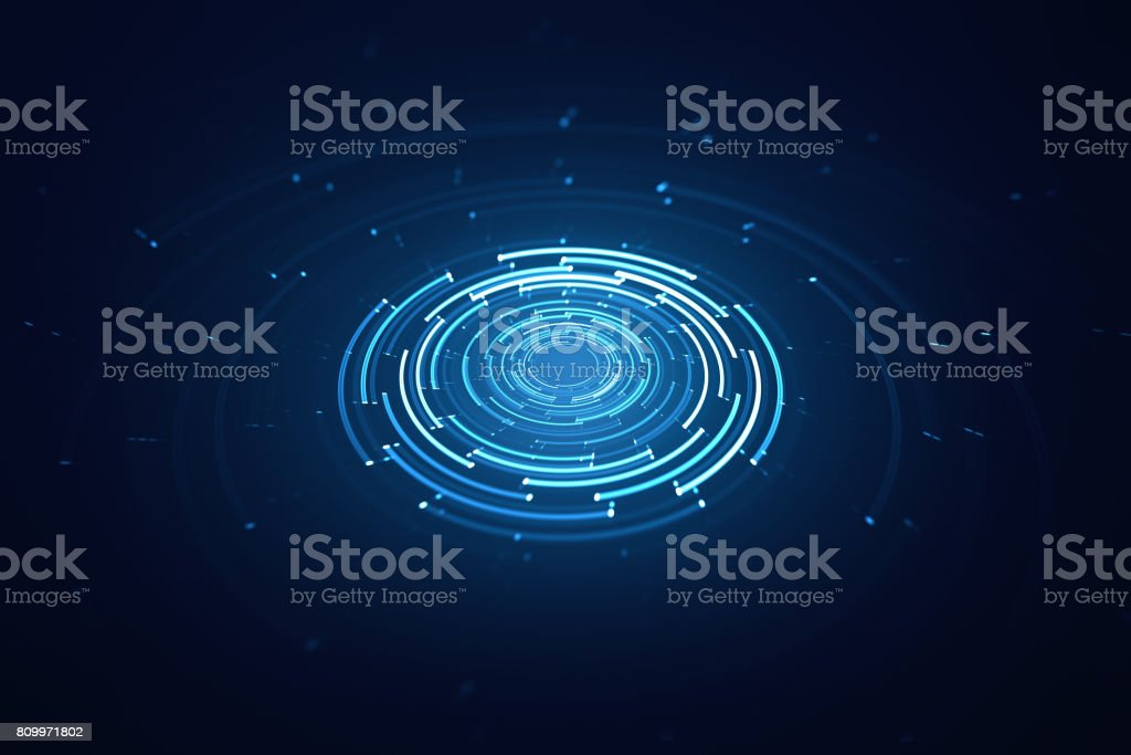 3D circular background stock photo