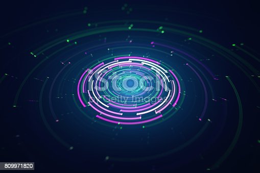 istock 3D circular background 809971820