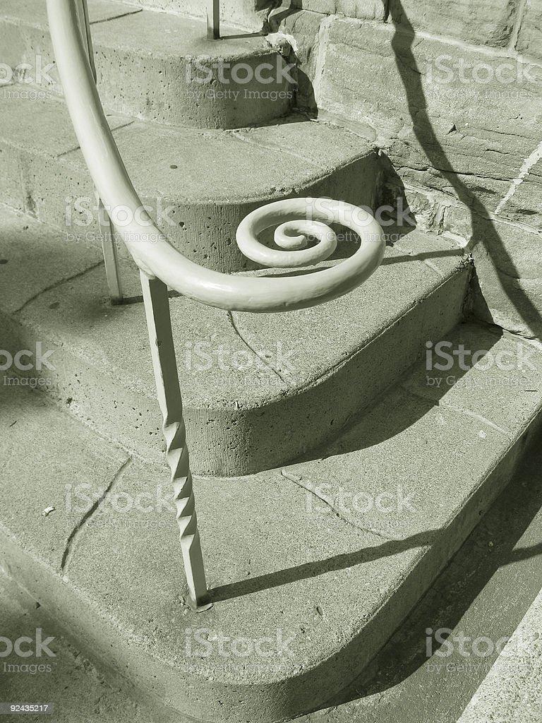 Circular Banister Abstract_4 royalty-free stock photo