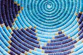 istock Circular Blue Native American Weave Background 472523566
