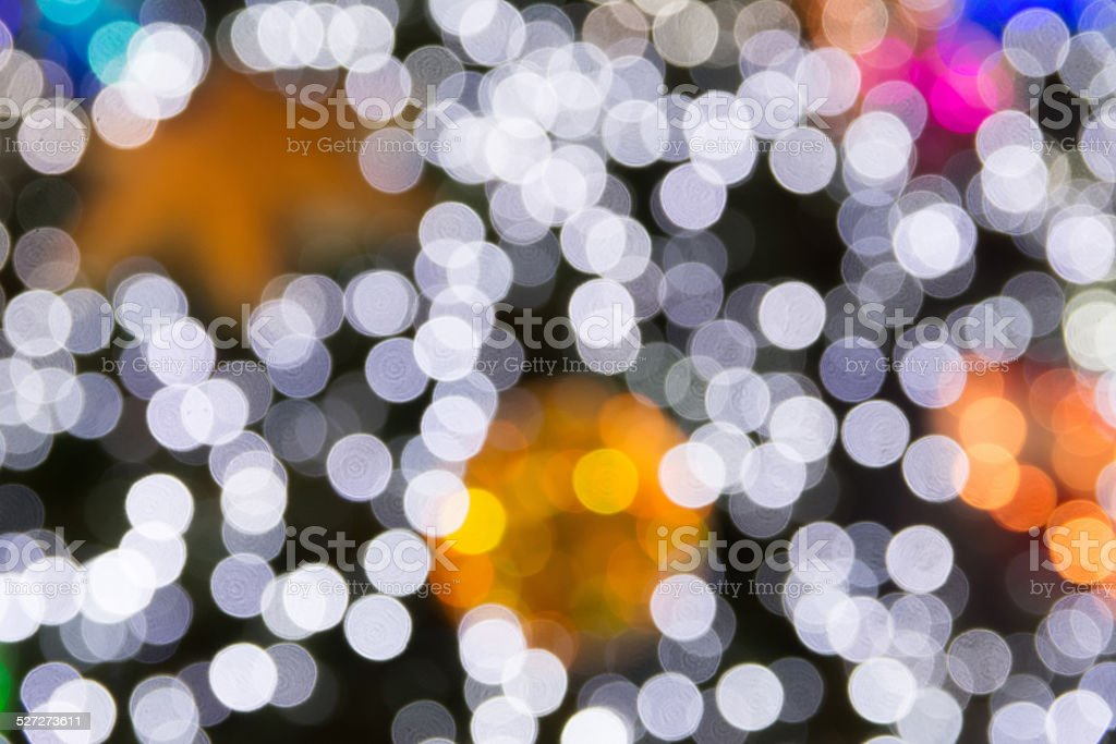 Circular Bokeh Background Of Christmas Light Stock Photo