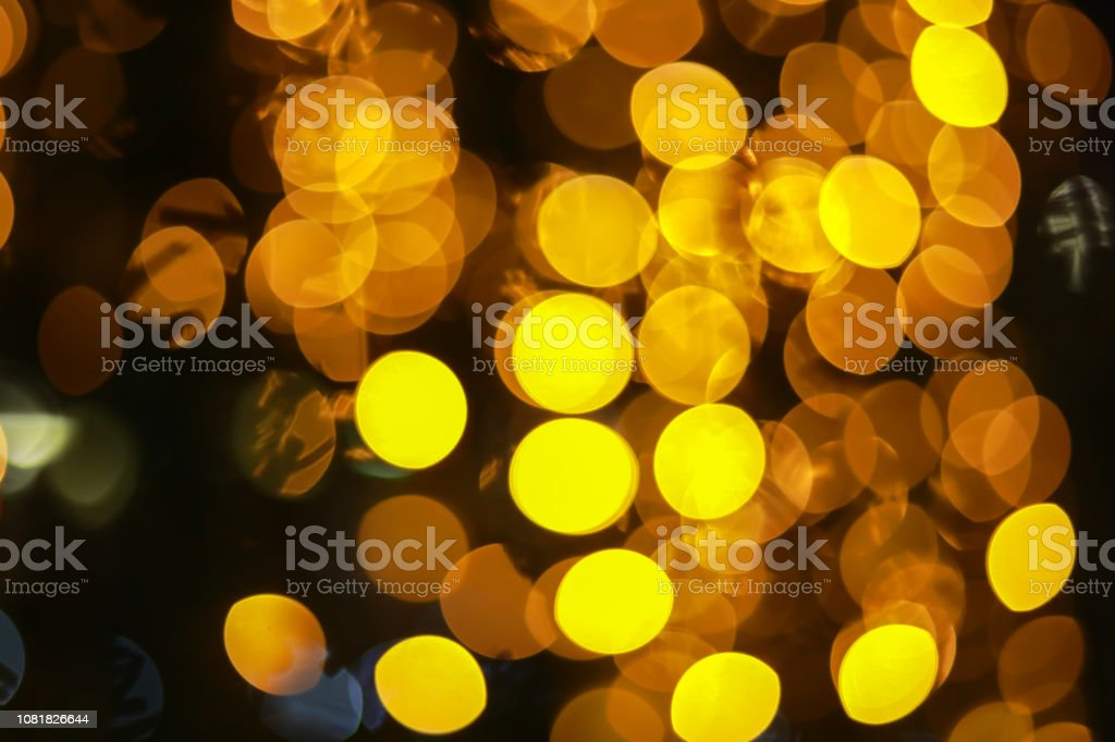 Circular Bokeh From Defocus Of Night Light For Background Stock Photo -  Download Image Now
