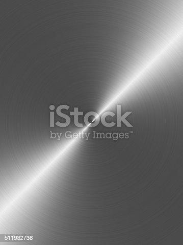 istock Circular brushed aluminum background 511932736