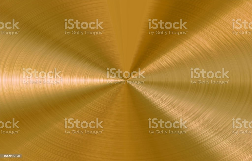 Circular Brushed Gold Vector Background stock photo