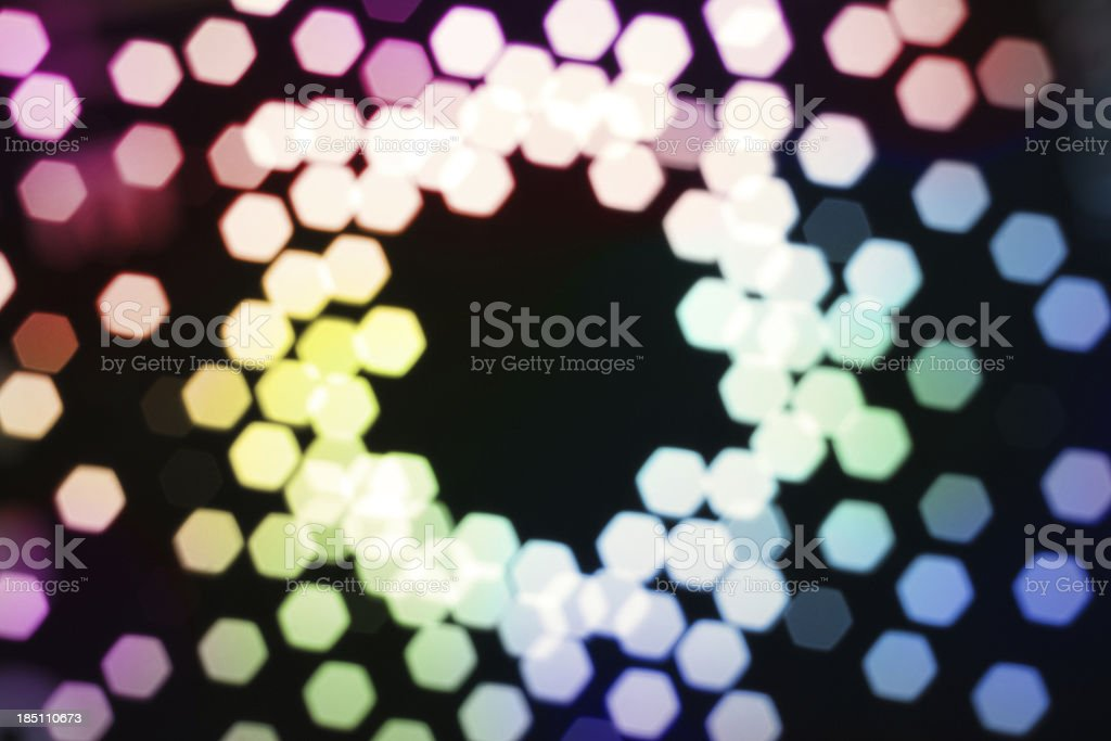 Circular Defocused Lights Background royalty-free stock photo