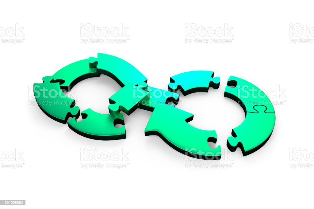 Circular economy concept, 3D illustration. - Royalty-free Arrow Symbol Stock Photo