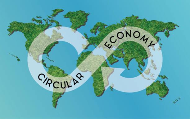 circular economy is sustainable concept for business - economia circular imagens e fotografias de stock