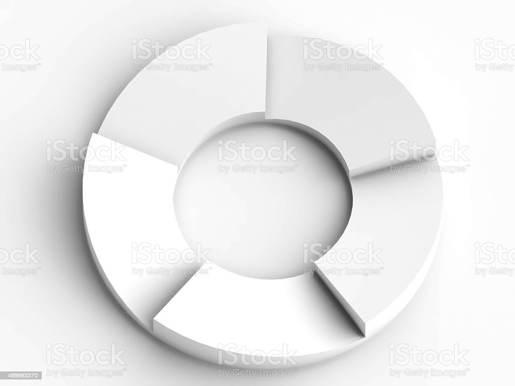circular flow chart in white background stock photo