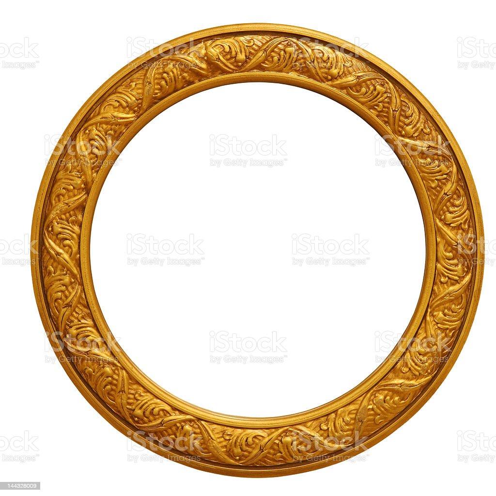Circular Golden Frame royalty-free stock photo