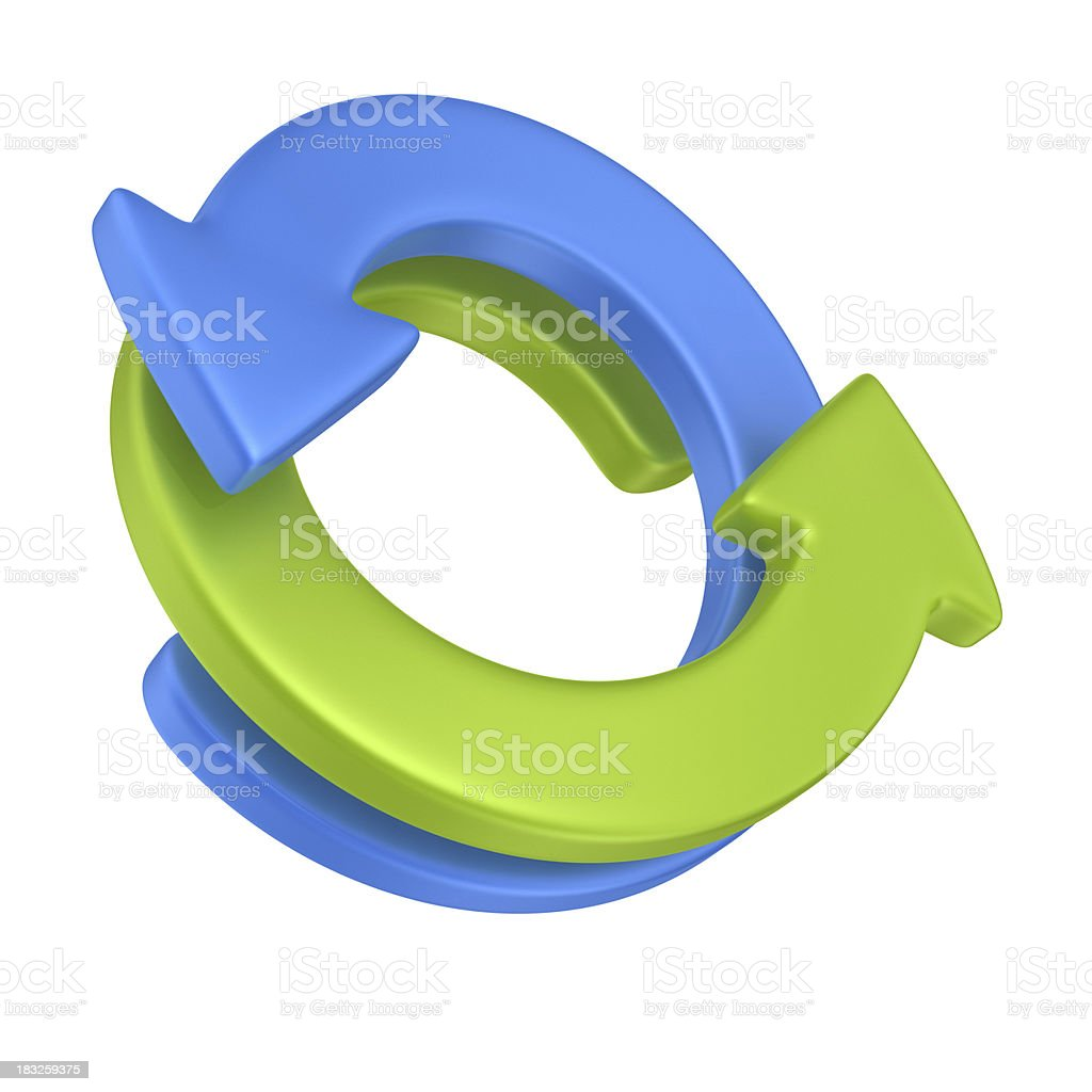 Circular Graph stock photo