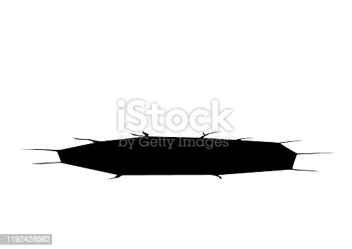 istock Circular hole on a white background 1192426562