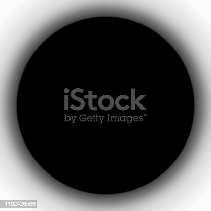 istock Circular hole on a white background 1192426566