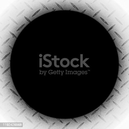 istock Circular hole on a white background 1192426568