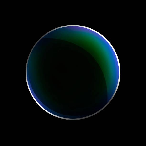円形のレンズ フレア。 美しい楕円の境界線。高級輝く穴。回転ライン - レンズ ストックフォトと画像