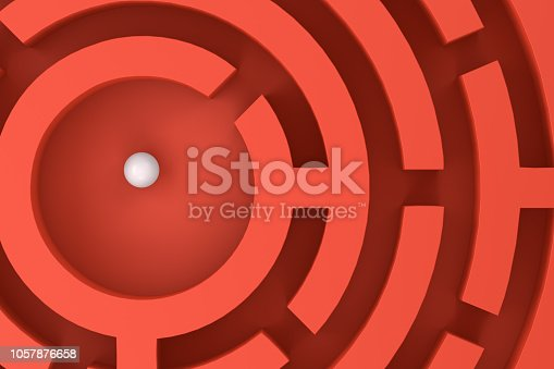 istock 3D circular maze, labyrinth background 1057876658
