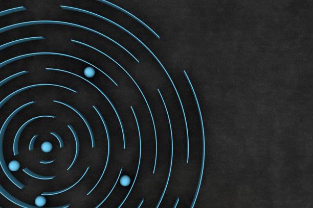 3D kreisförmige Labyrinth / Labyrinth – Foto