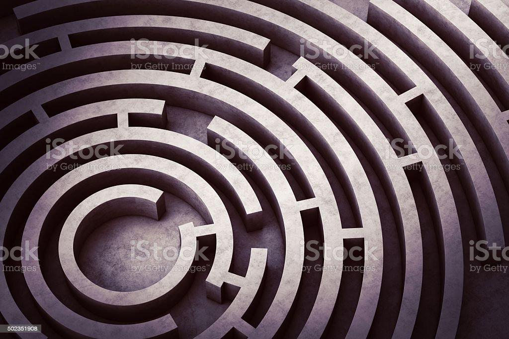 Labirinto circolare foto stock royalty-free