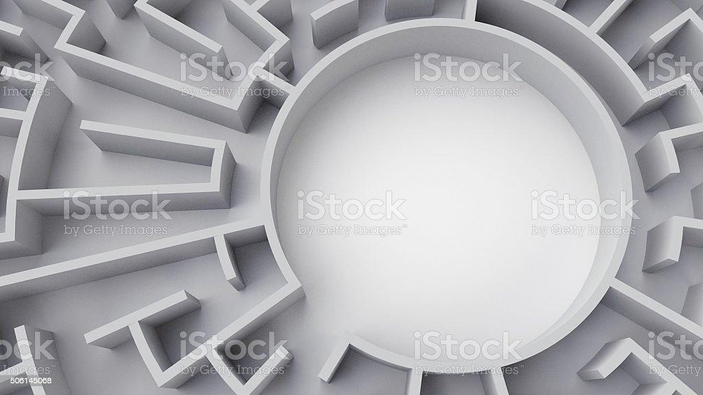 Circular Maze (center) stock photo