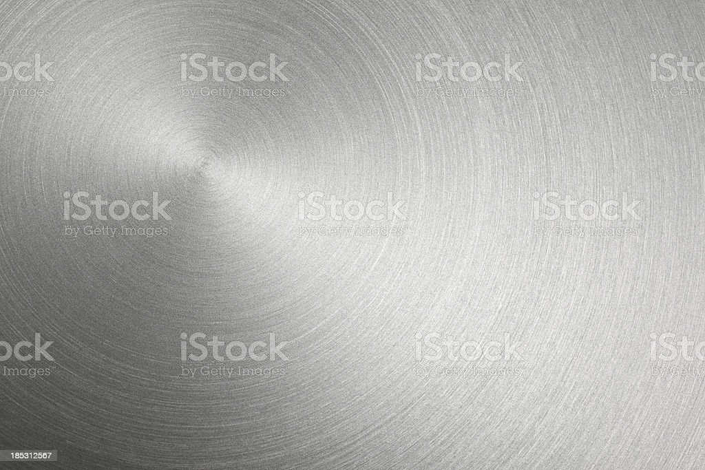 Circular Metal Brushed Texture stock photo