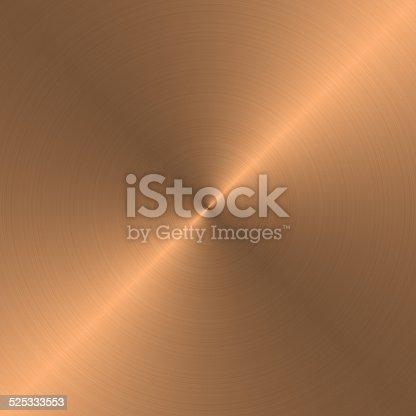 Circular metal brushed texture (copper).
