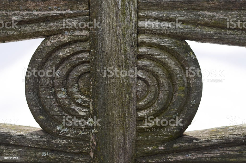 Awesome Circular Pattern In A Wooden Bench Stock Photo Download Cjindustries Chair Design For Home Cjindustriesco