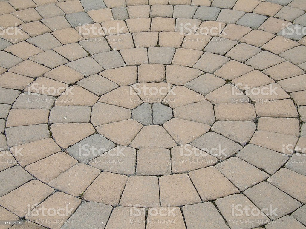 Circular Pavers royalty-free stock photo