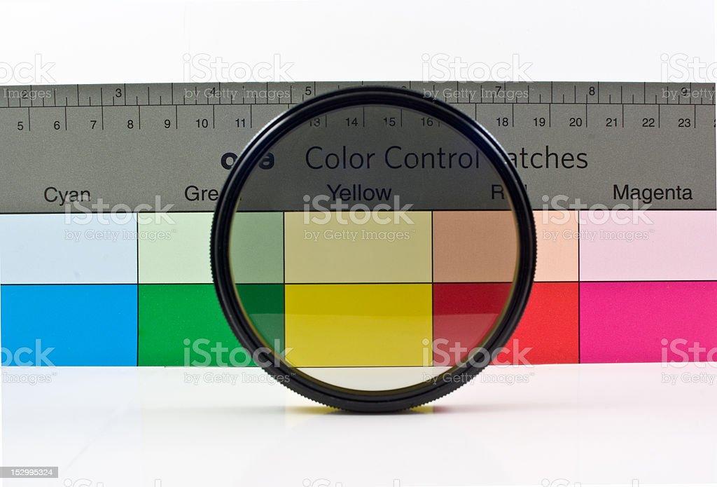 circular polarizing filter stock photo