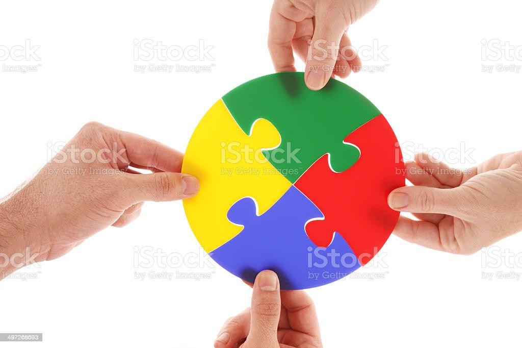 Circular Puzzle stock photo