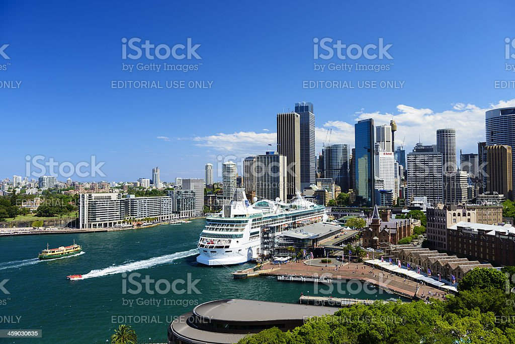 Circular Quay and Downtown Sydney in Australia royalty-free stock photo