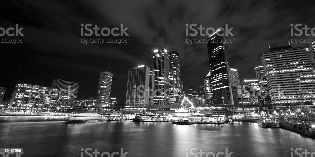Circular Quay at night royalty-free stock photo