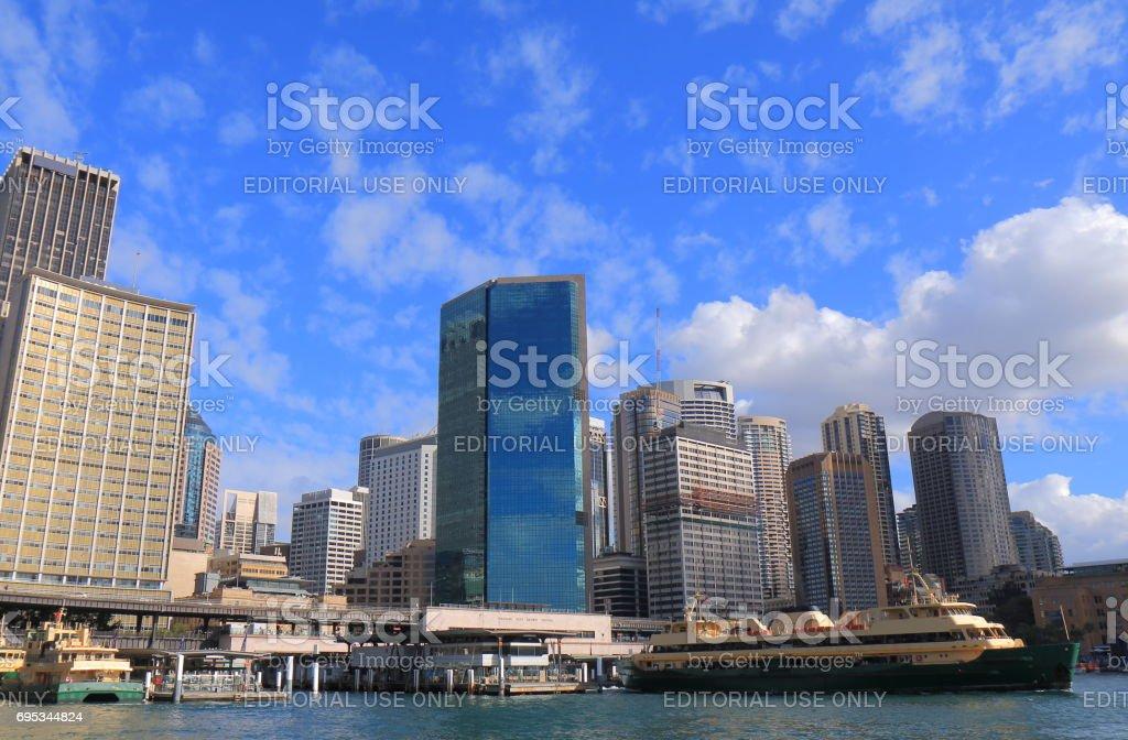 Circular Quay downtown cityscape Sydney Australia stock photo