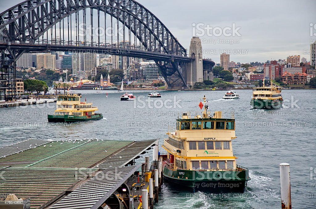 Circular Quay ferries stock photo