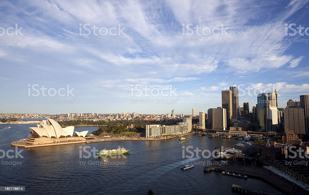 Circular Quay In Sydney royalty-free stock photo